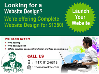 Thomas McKee Website Design